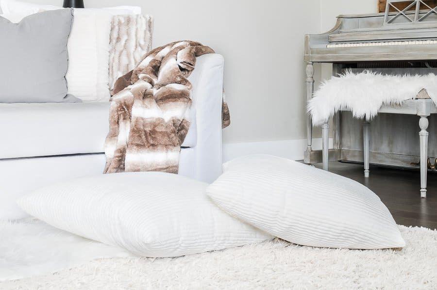 Bigger white pillows