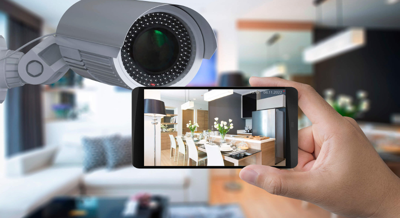 CCTV camera controlled using phone