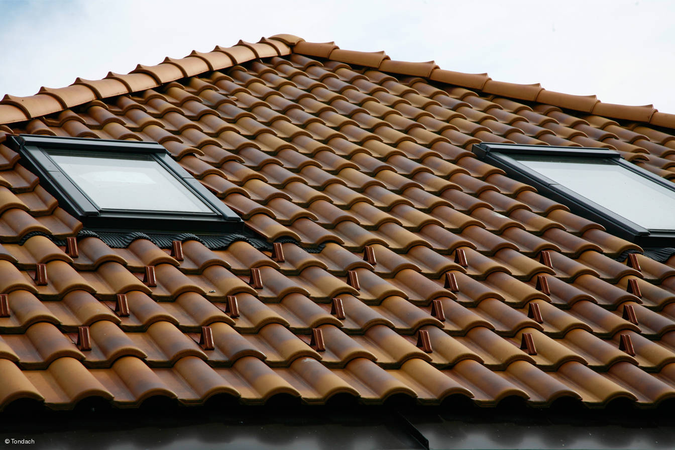 Clay roofing material