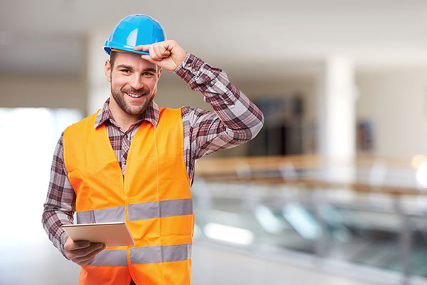 a Contractor wearing blue cap