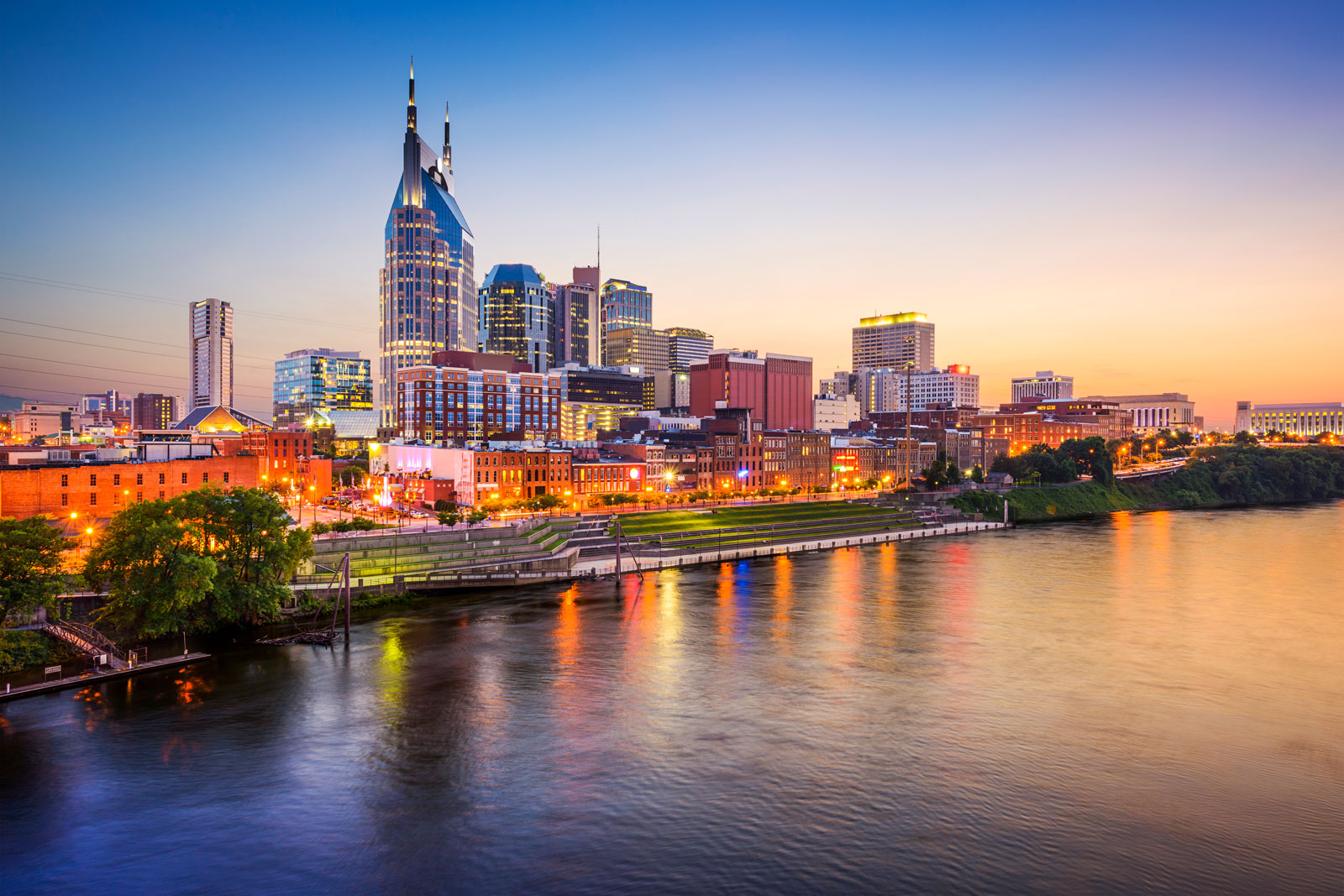 Drone view of Nashville