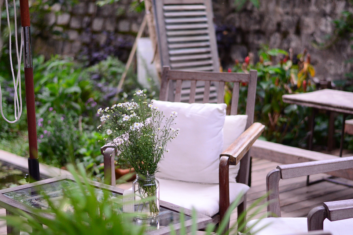 Eco-Friendly outdoor living space