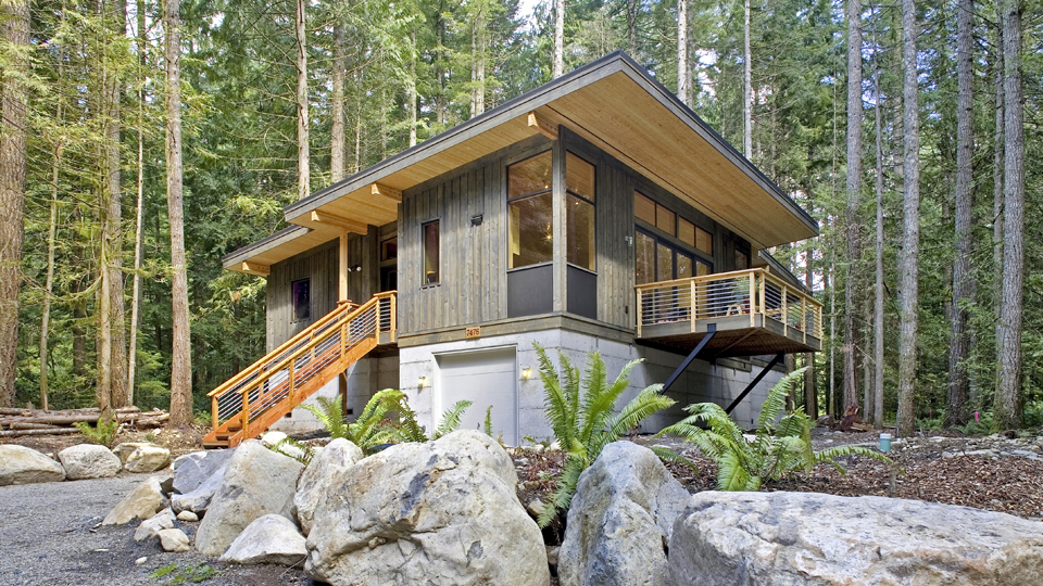 Modular Home in forest