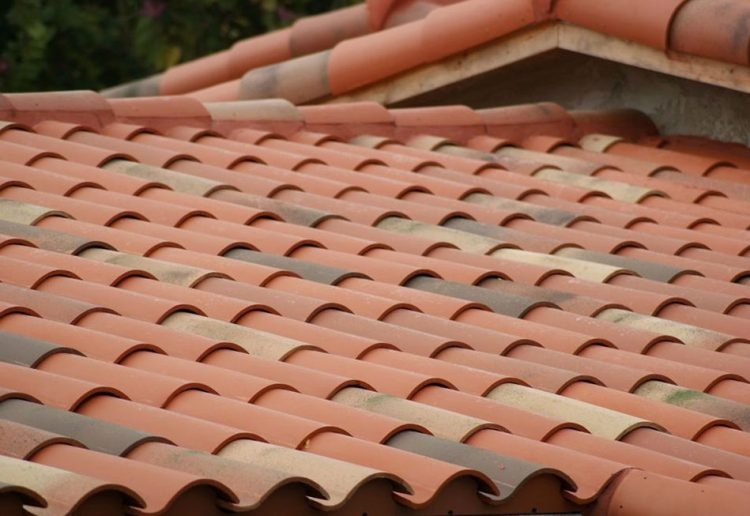 Clay based terracotta used in roofing