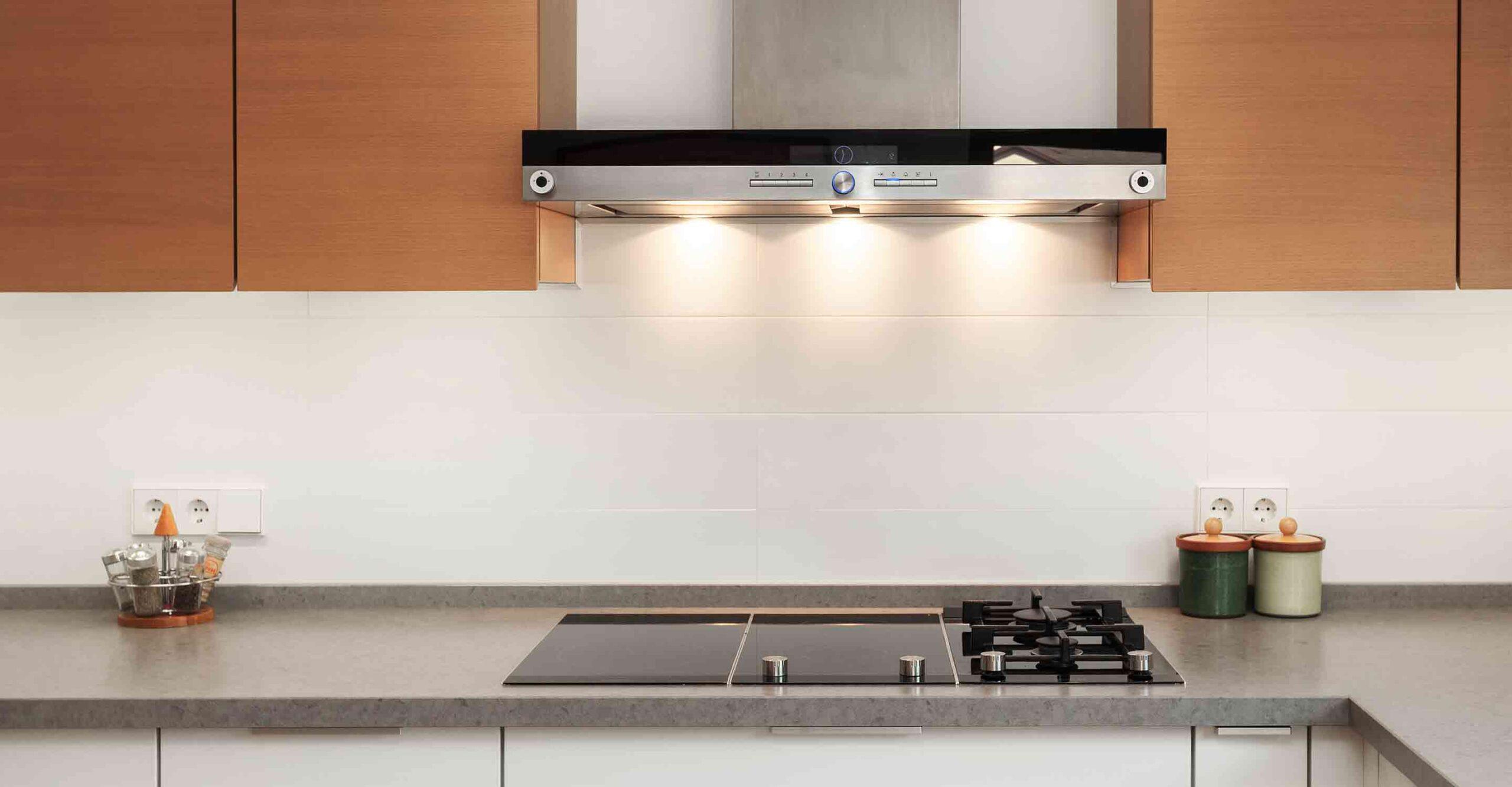 Kitchen With Ventilation