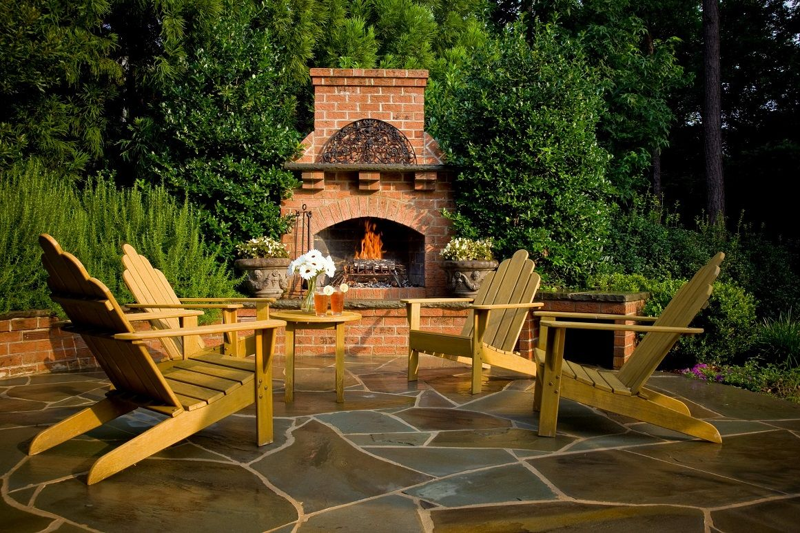 Outdoor Charm with Fireplaces