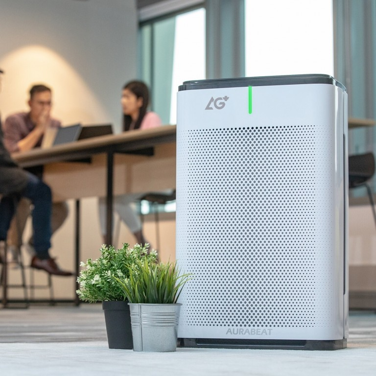Portable air purifiers for workplace