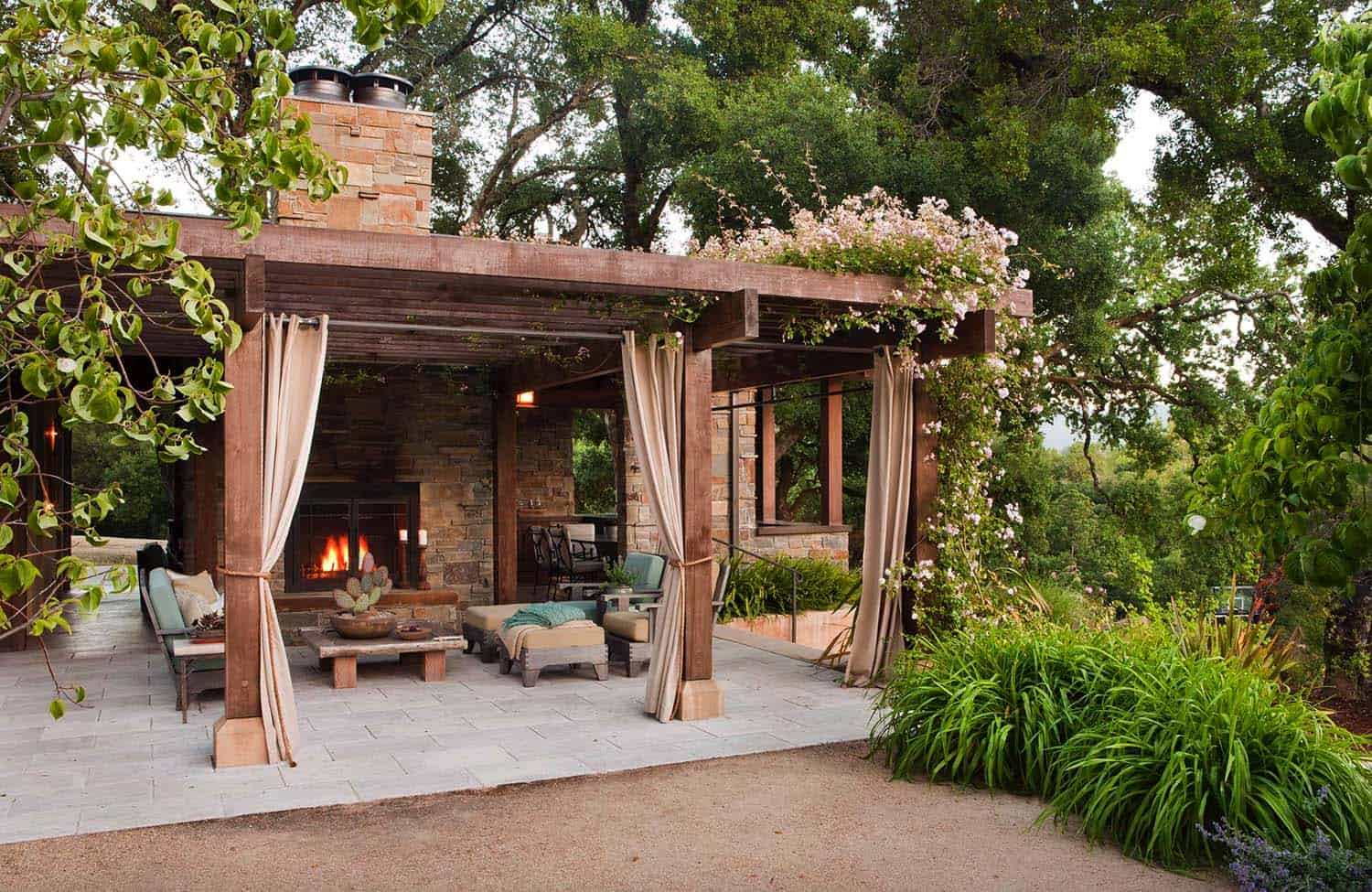 Private Lounging Space in backyard