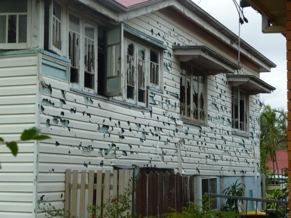 Windows after a Hail Storm