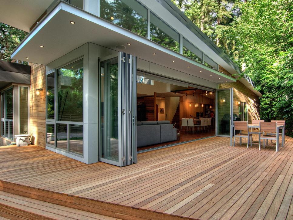 Wooden patio design