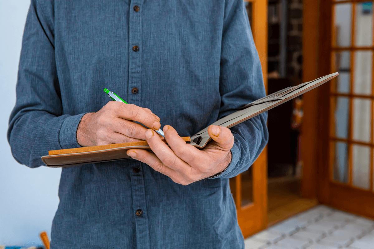 Writing down something