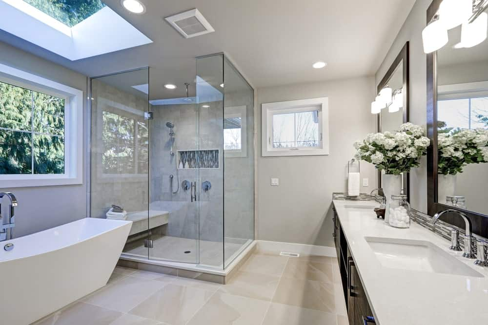 Glass shower Lighting and fixtures
