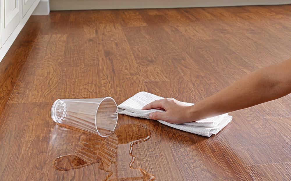 stains on vinyl floors